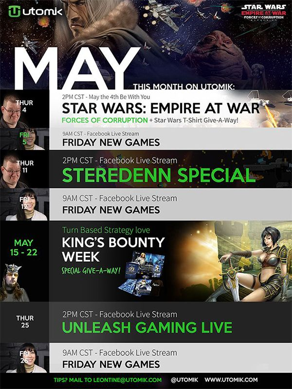 What's happening in may?